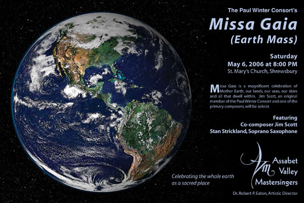 earth mass missa gaia poster